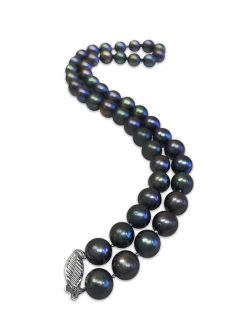 PACIFIC PEARLS MARIA-THERESA REEF COLLECTION Aubergine 9-10mm Pearl Necklace