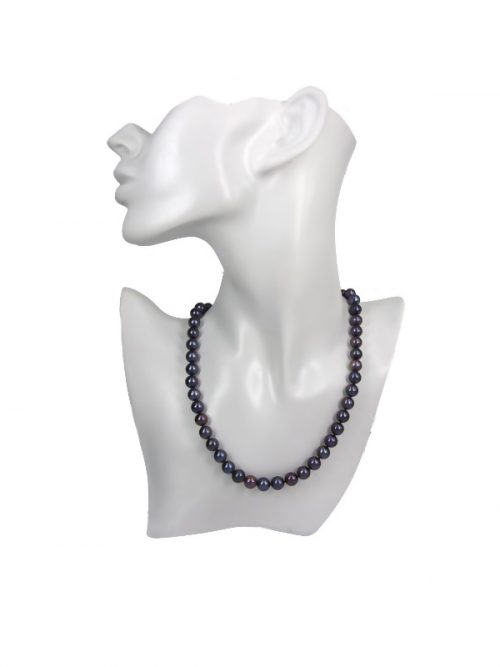 MARIA-THERESA REEF COLLECTION AUBERGINE 9-10MM PEARL NECKLACE