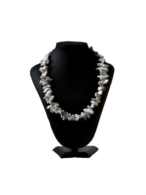 PACIFIC PEARLS ALOHA COLLECTION Tiger Tooth Pearl Necklace and Bracelet Set