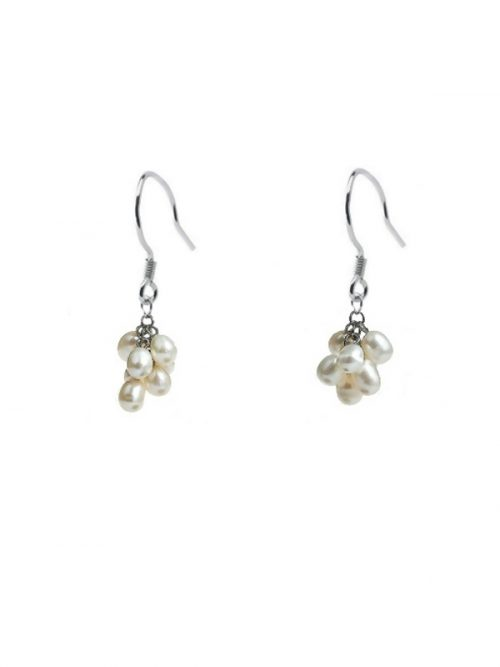PACIFIC PEARLS ALOHA COLLECTION White Pearl Drop Earrings