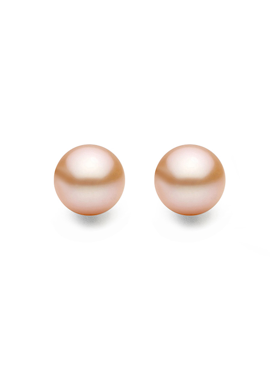 earrings shop pearls cabochon pearl jewellery peach joli rose with