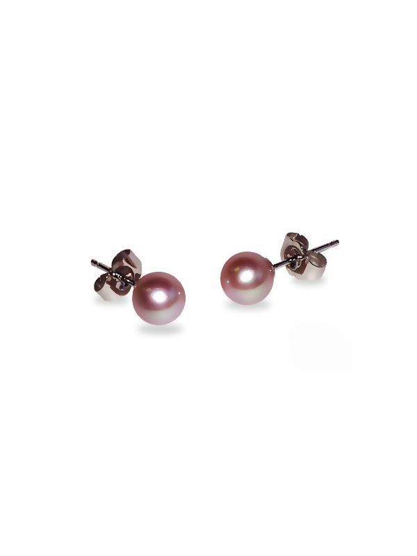 PACIFIC PEARLS BUA BAY COLLECTION Pink 5mm Round Pearl Stud Earrings