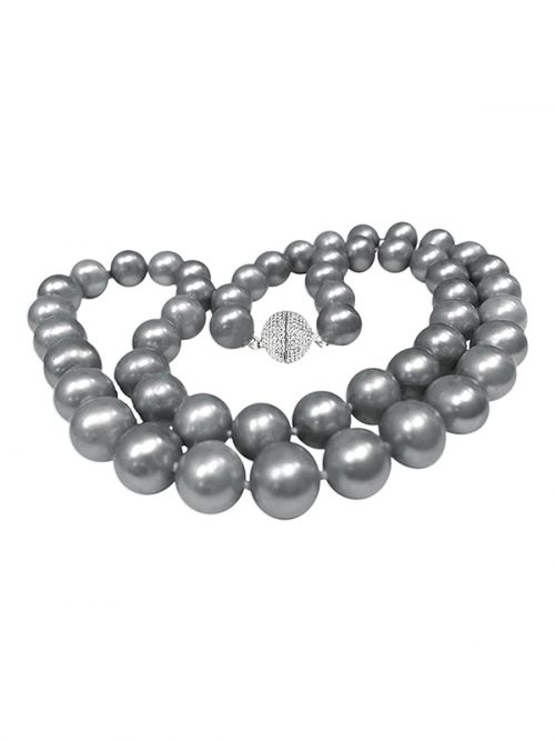PACIFIC PEARLS BUA BAY COLLECTION Silver-Gray 7-8mm Pearl Necklac
