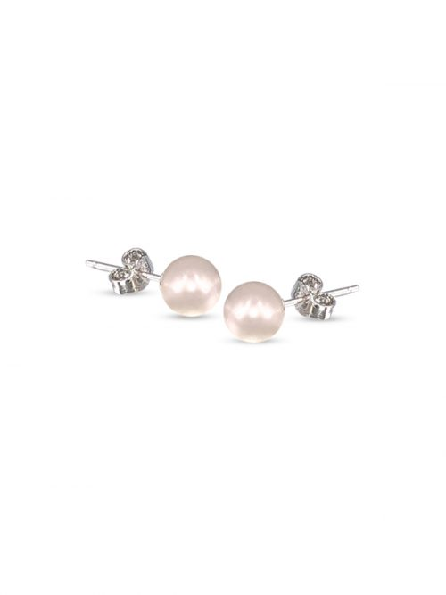 PACIFIC PEARLS BUA BAY COLLECTION White 7mm Pearl Stud Earrings