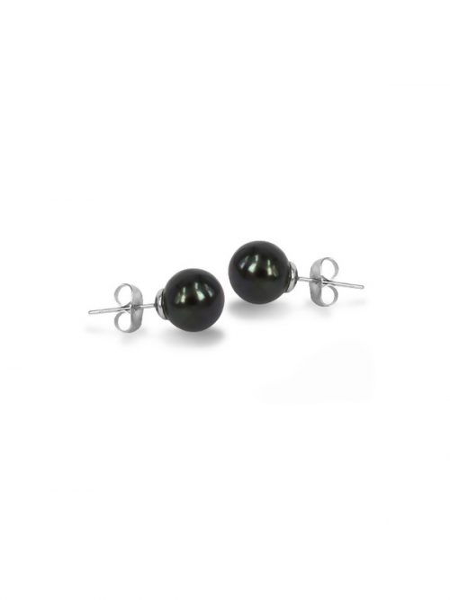 PACIFIC PEARLS MARIA-THERESA REEF COLLECTION Black 9mm Pearl Stud Earrings