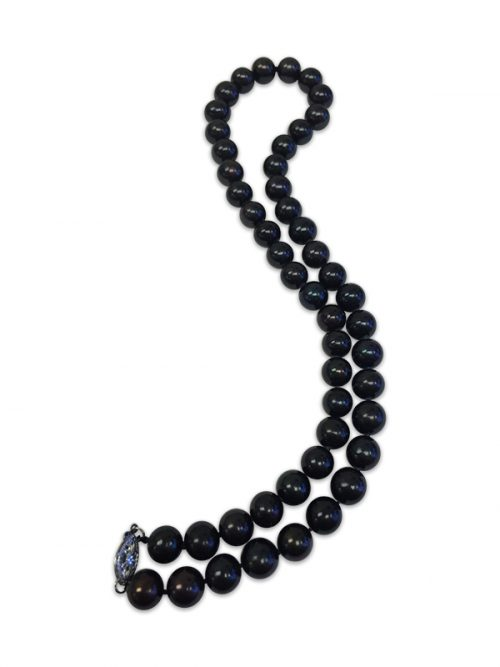 MARIA-THERESA REEF COLLECTION Midnight Black 9-10mm Pearl Necklace