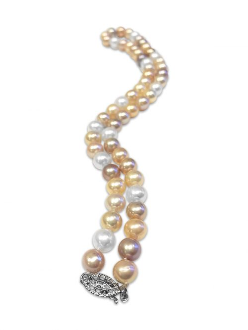 PACIFIC PEARLS MARIA-THERESA REEF COLLECTION Pastel 9-10mm Pearl Necklace