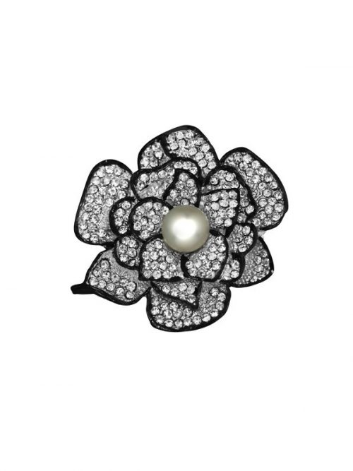 TARA ISLAND COLLECTION White Hibiscus Pearl Brooch