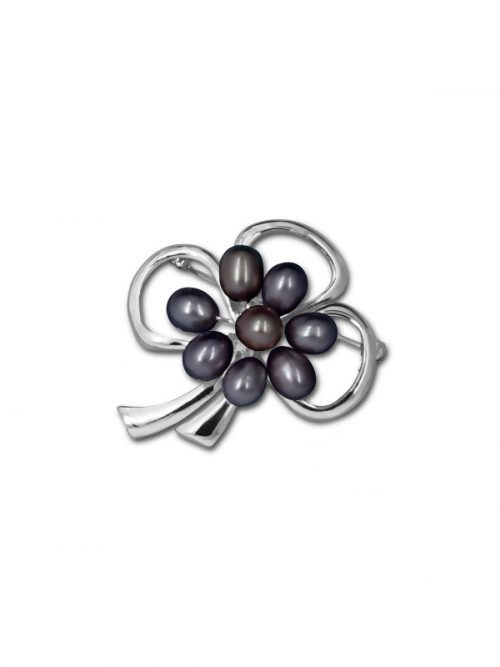 PACIFIC PEARLS TERAINA COVE COLLECTION Black Pearl Brooch