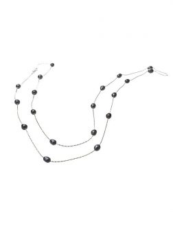 PACIFIC PEARLS TERAINA COVE COLLECTION Double Strand Black Pearl Necklace
