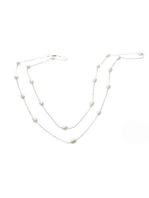 PACIFIC PEARLS TERAINA COVE COLLECTION Double Strand White Pearl Necklace