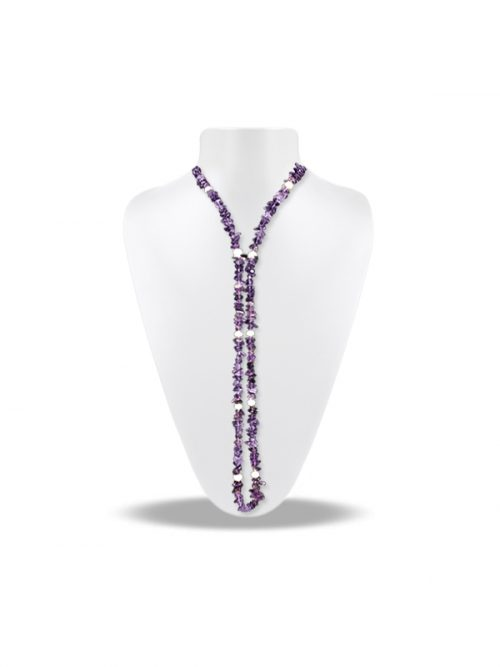 PACIFIC PEARLS TREASURE ISLAND COLLECTION Amethyst and Pearl 5-in-1 Lariat