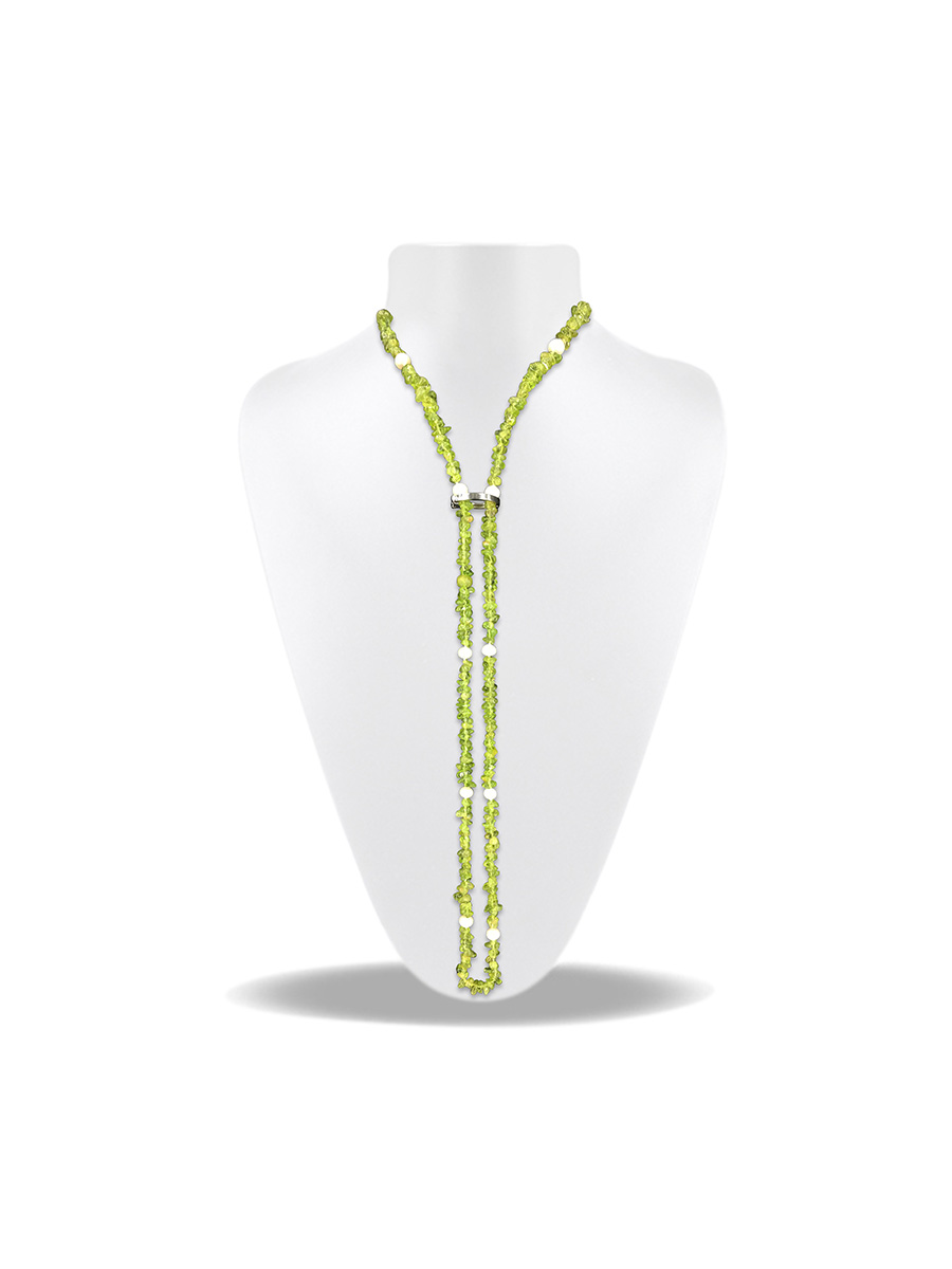 PACIFIC PEARLS TREASURE ISLAND COLLECTION Peridot and Pearl 5-in-1 Lariat