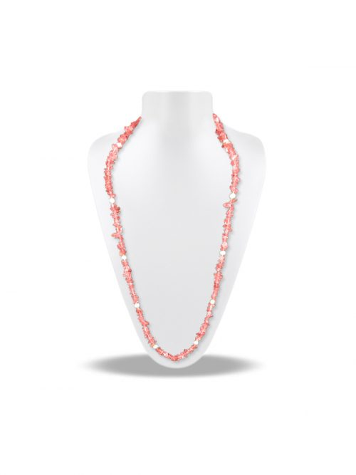 PACIFIC PEARLS TREASURE ISLAND COLLECTION Pink Tourmaline and Pearl 5-in-1 Lariat