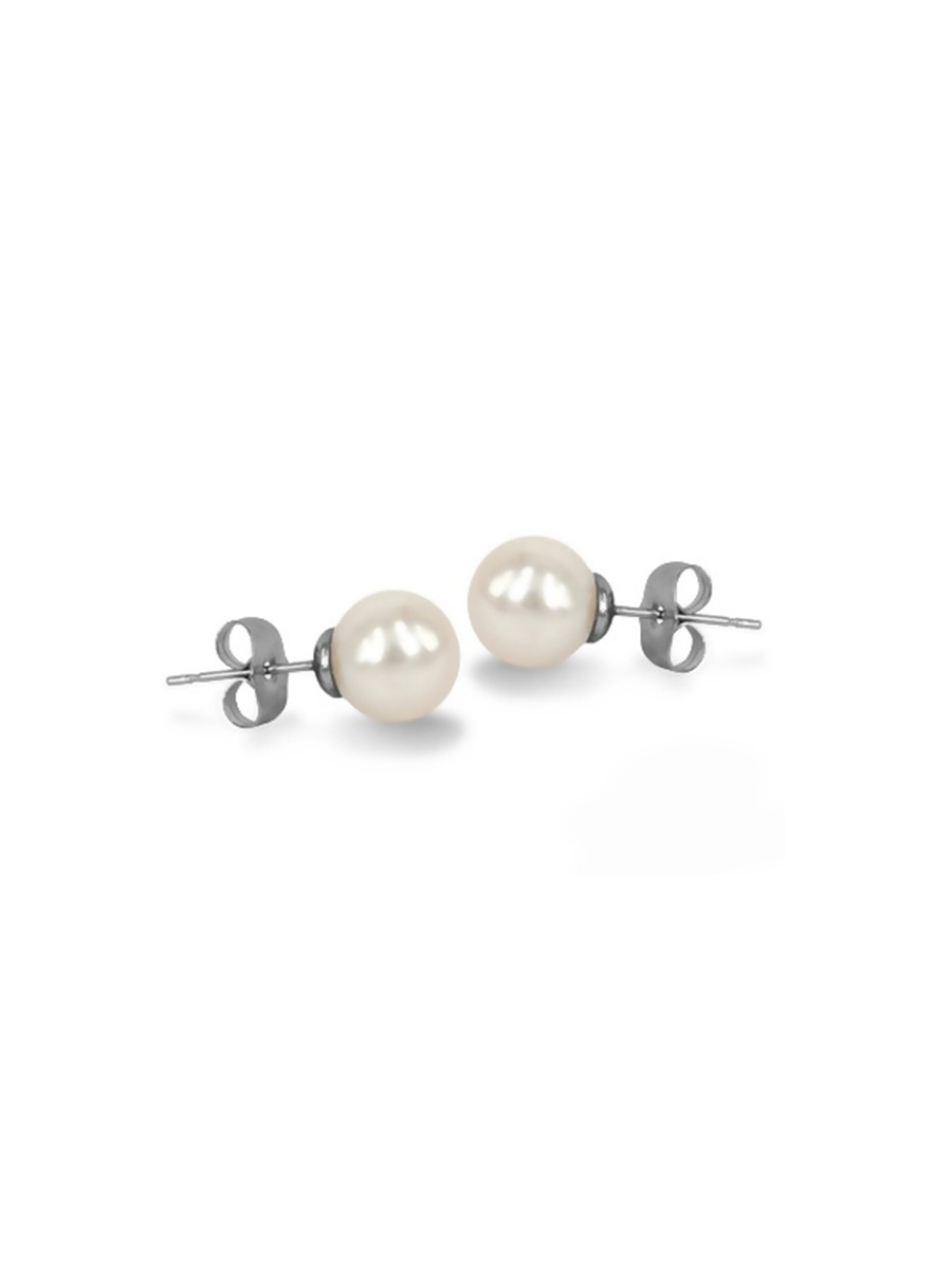 PACIFIC PEARLS MARIA-THERESA REEF COLLECTION White 9mm Pearl Stud Earrings