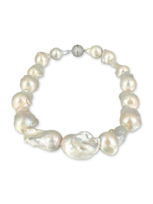 POLYNESIA COLLECTION 15-20mm White Giant Baroque Pearl Necklace