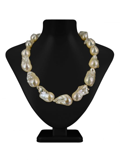 POLYNESIA COLLECTION WHITE BAROQUE 15-20MM PEARL NECKLACE
