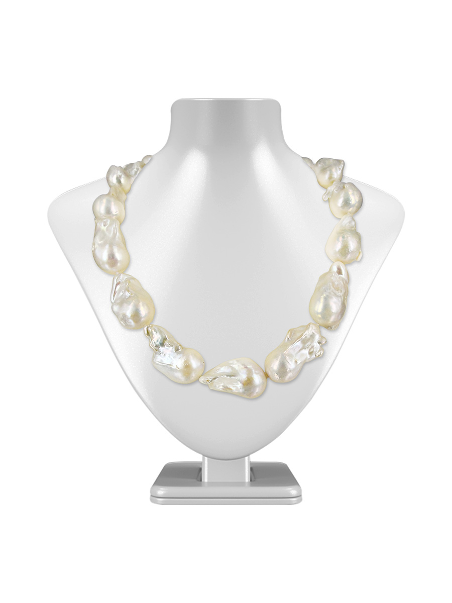 Polynesia collection white 15 20mm giant baroque pearl necklace polynesia collection white 15 20mm giant baroque pearl necklace aloadofball Gallery