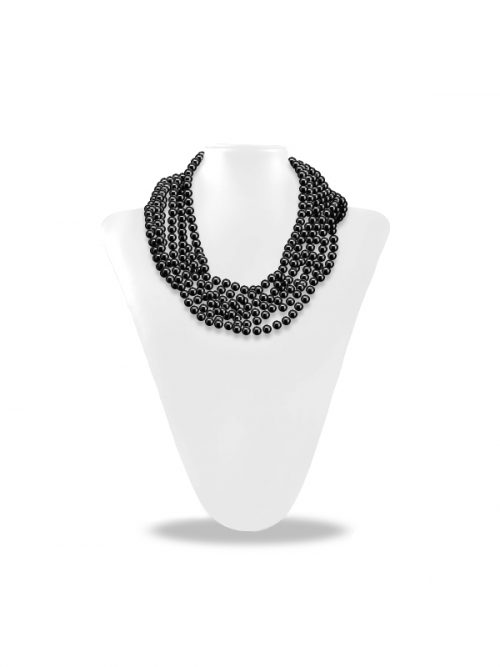 SOCIETY ISLANDS COLLECTION BLACK 180 INCH PEARL NECKLACE