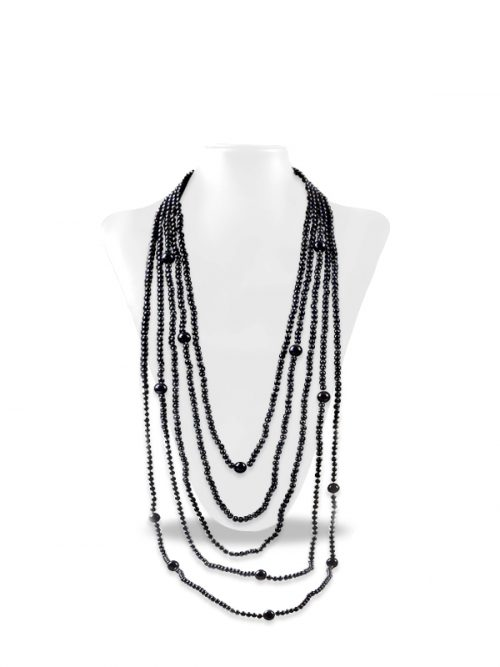 PACIFIC PEARLS SOCIETY ISLANDS COLLECTION Black 900-Pearl Layered Necklace
