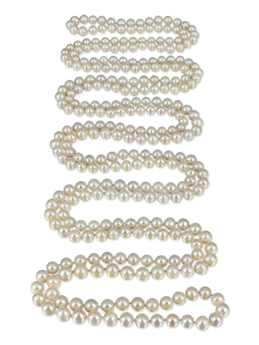 PACIFIC PEARLS SOCIETY ISLANDS COLLECTION French Vanilla 300 Pearl Necklace