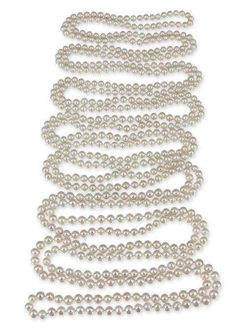 PACIFIC PEARLS SOCIETY ISLANDS COLLECTION French Vanilla 600 Pearl Necklace
