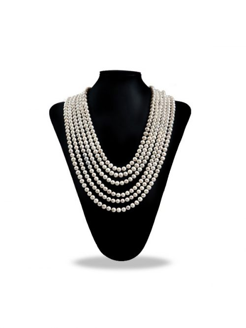 PACIFIC PEARLS SOCIETY ISLANDS COLLECTION White 180 Inch Pearl Necklace