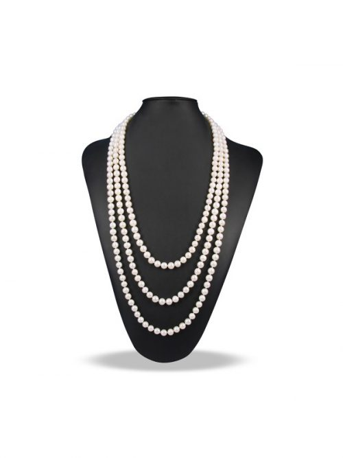 PACIFIC PEARLS SOCIETY ISLANDS COLLECTION White 90 Inch Pearl Necklace