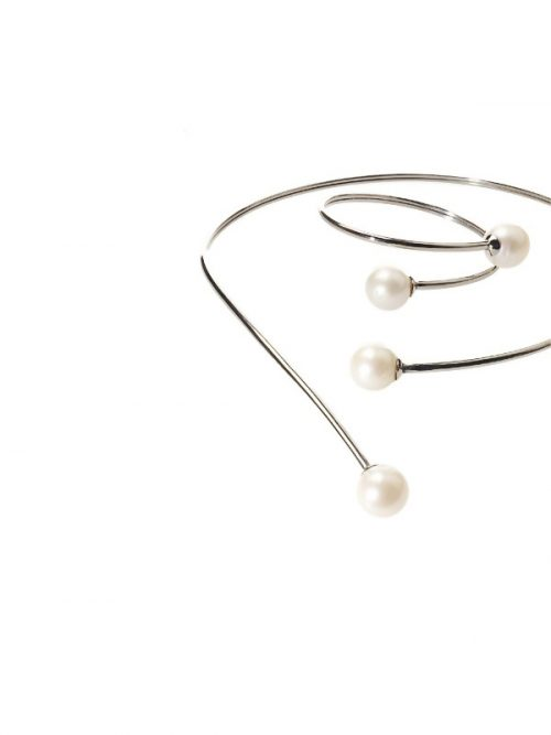 SOUTH SEA COLLECTION 14-15MM WHITE PEARL NECKLACE AND BRACELET