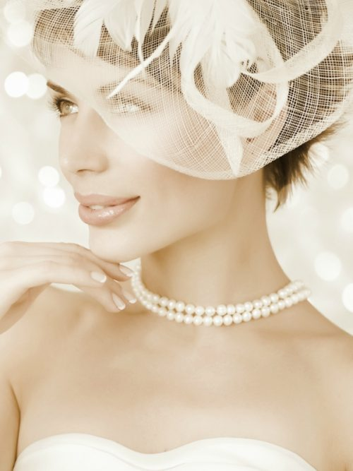 TARA ISLAND COLLECTION White Double)Strand Pearl Necklace
