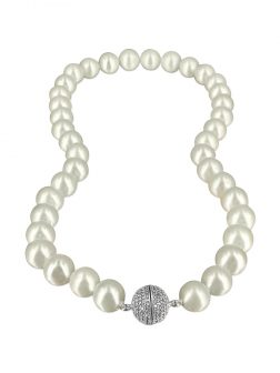 PACIFIC PEARLS VANUATU COLLECTION Chantilly Lace 11mm-12mm Pearl Necklac