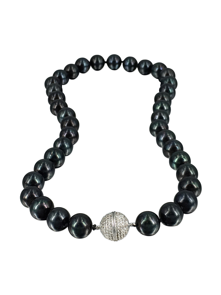 PACIFIC PEARLS VANUATU COLLECTION Tango After Dark 11-12mm Pearl Necklace