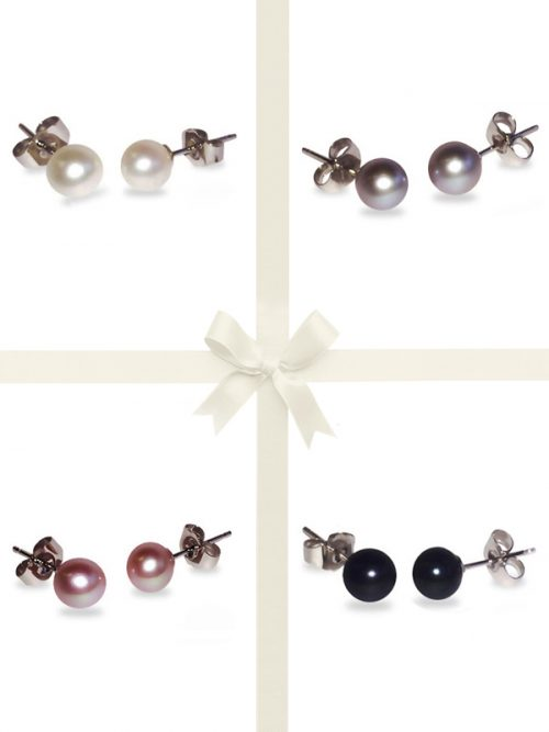 PACIFIC PEARLS BUA-BAY-COLLECTION-Four-Piece-Stud-Earring-Gift-Set