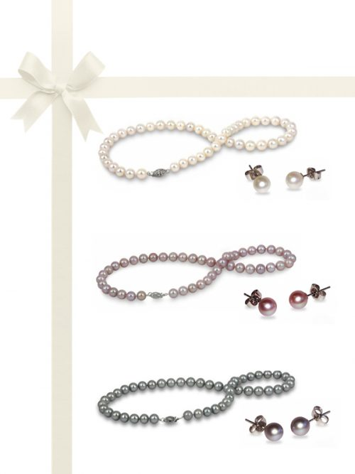 PACIFIC PEARLS BUA BAY COLLECTION Six-Piece Necklace and Earring Gift Set