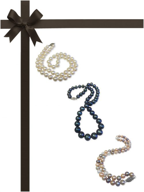 BUA BAY COLLECTION Three-Piece Pearl Necklace Gift Set