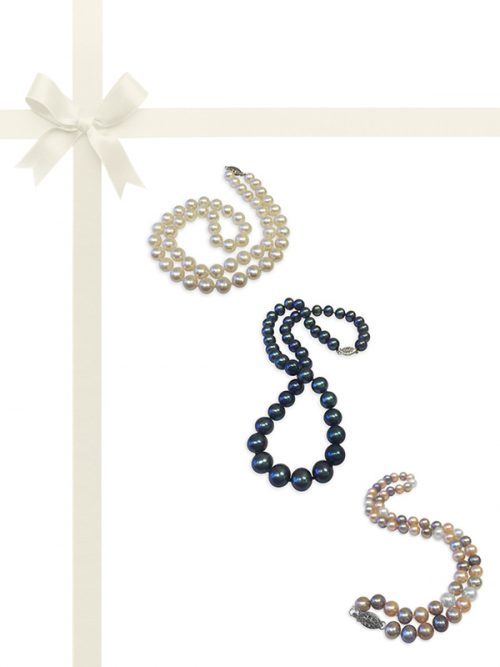 PacificPearls.com Bua Bay Collection Three-Piece Pearl Necklace Gift Set
