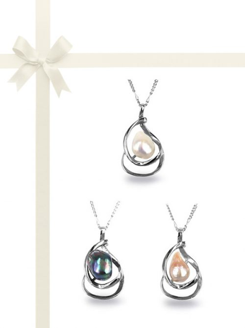 PACIFIC PEARLS KIRIBATI COLLECTION Baroque Pearl Pendant Gift Set