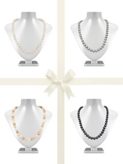 PACIFIC PEARLS MARIA-THERESA REEF COLLECTION 9mm-10mm Pearl Necklace Gift Set