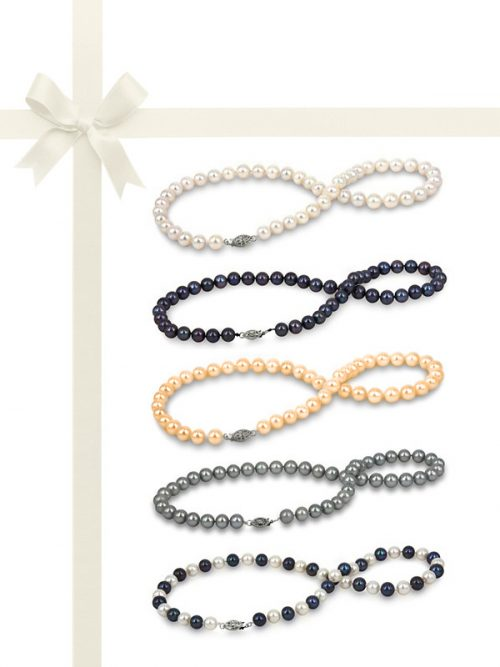 PACIFIC PEARLS MARIA-THERESA REEF COLLECTION Five-Piece Necklace Gift Set