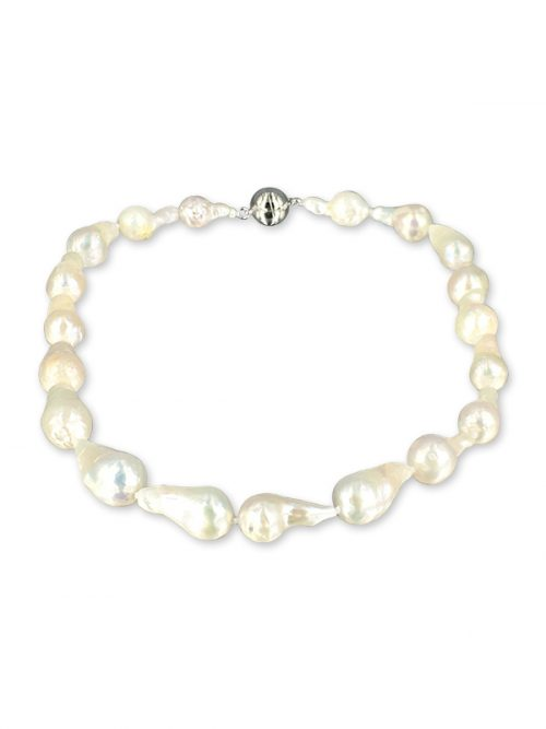 POLYNESIA COLLECTION 10-15mm White Baroque Pearl Necklace