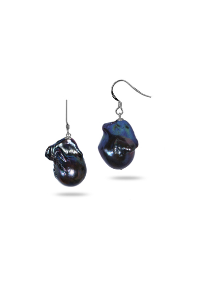 POLYNESIA COLLECTION BLACK BAROQUE EARRINGS