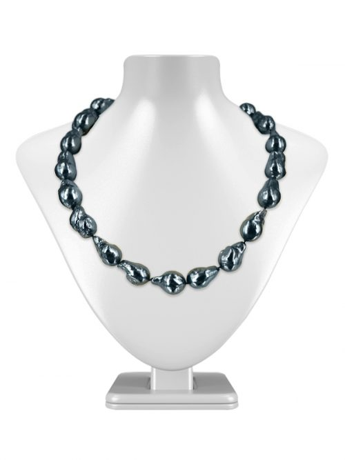 PACIFIC PEARLS POLYNESIA COLLECTION Black 10-15mm Baroque Pearl Necklac