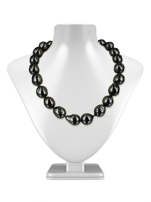 POLYNESIA COLLECTION METALLIC GRAY BAROQUE 10-15MM PEARL NECKLACE