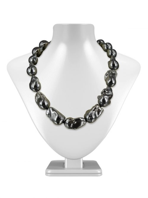 POLYNESIA COLLECTION METALLIC GRAY BAROQUE 15-20MM PEARL NECKLACE