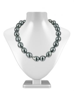 PACIFIC PEARLS POLYNESIA COLLECTION Metallic Gray 10-15mm Baroque Pearl Necklace