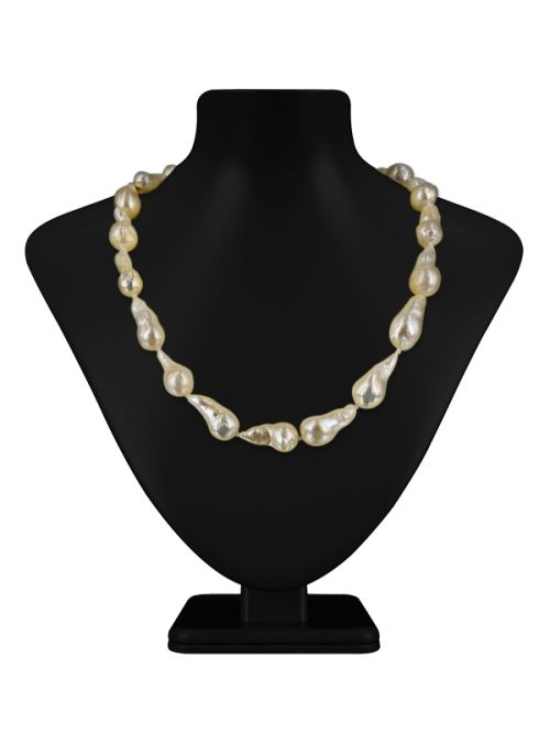 POLYNESIA COLLECTION WHITE BAROQUE 10-15MM PEARL NECKLACE