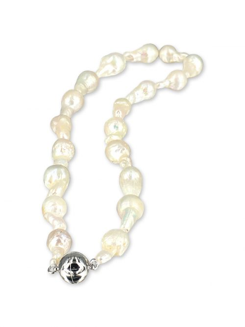 PACIFIC PEARLS POLYNESIA COLLECTION White 10-15mm Baroque Pearl Necklace