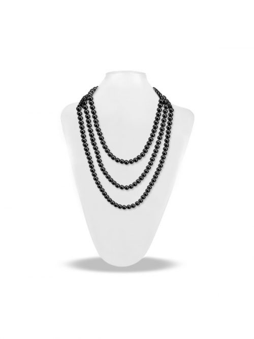 SOCIETY ISLANDS COLLECTION 54 INCH BLACK PEARL NECKLACE