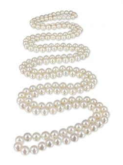 PACIFIC PEARLS SOCIETY ISLANDS COLLECTION French Vanilla 54 Inch Pearl Necklace