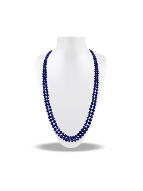 PACIFIC PEARLS SOCIETY ISLANDS COLLECTION Intensely Indigo 54 Inch Pearl Necklace